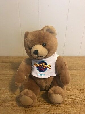 Hard Rock Cafe Tokyo Japan Teddy Bear With Shirt Mint Condition