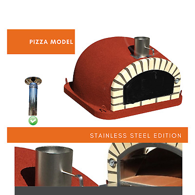 Wood-fired pizza oven  - Stand included
