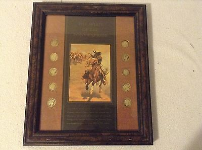 The Spirit of the Pony Express Mercury Dimes Framed Commemoration, Set of 10 Coi