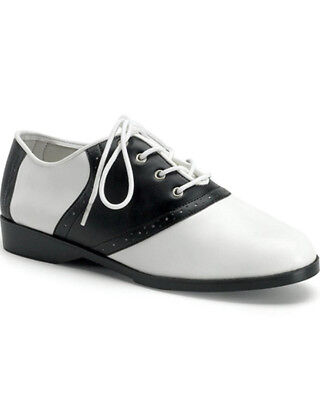 Black And White Gangster Saddle Adult Shoes