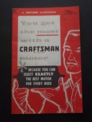 1963 You Get The Most With A Crafstman Motor Handbook