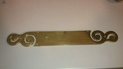 OrnateVintage Brass Door Push Plate New Old Stock 14 inch