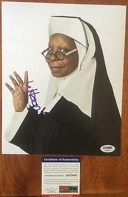 Whoopi Goldberg - Signed Sister Act 'Deloris' 8x10 Photo - PSA/DNA Autograph COA