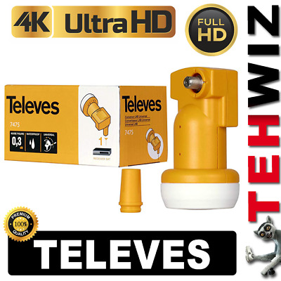 LNB SINGLE TELEVES  HD 3D 4K - +10 % Waterproof - SKY POLSAT NC+ TNK CYFRA