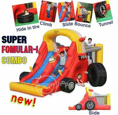 Super Formula 1 Jumping Castle and 2 Slides   - 9026