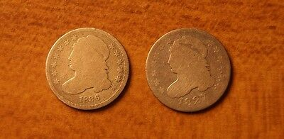 Bust Dimes Good Condition 1827 & 1836