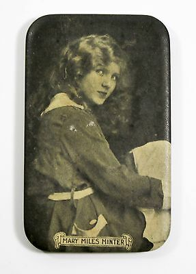 Antique Vintage Mary Miles Minter Celluloid Pocket Mirror American Movie Co