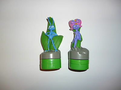 Disney A Bugs Life Stamper Character Figures -  Princess Atta and Flik