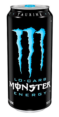 Monster Energy Drink Beverage Lo-Carb, Low Calories 16 Ounce (Pack of 24), New