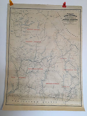 Antique Pacific Northwest map Washington and Canada printed in Victoria BC 1900