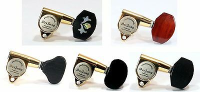 Acoustic Guitar Golden Plated Tuners 3R3L Wood Buttons 235GL