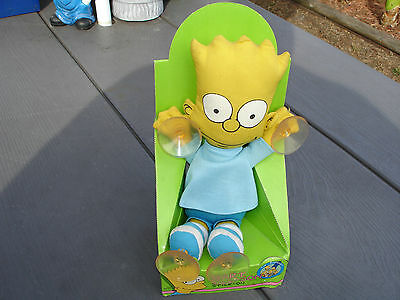 The Simpsons 'bart Simpson Stick On Plush'from 1990