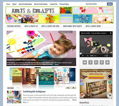 * ARTS & CRAFTS * blog niche website business for sale with AUTOMATIC CONTENT!