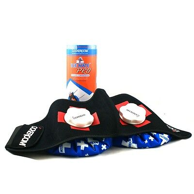 Lockeroom IceMate Pro - 2 x Reusable Ice Bags with Compression Strap