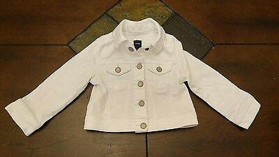 Baby Gap Girls Jean Jacket Size 18-24 months Color: White