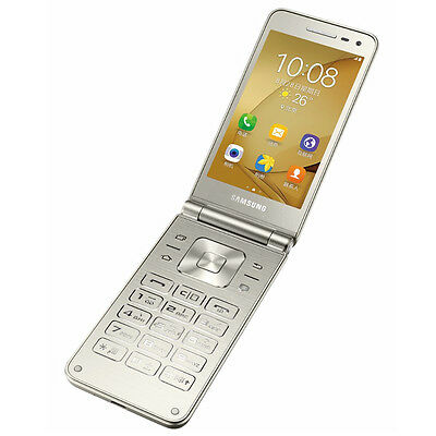 New Samsung Galaxy Folder 2 SM-G1600 - Dual SIM - 16GB - Flip Android Gold AU