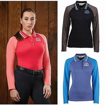 Dublin 'Ashley' Ladies Long Sleeved Polo Shirt Casual Winter Country Riding