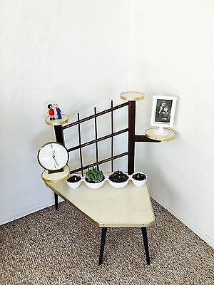 Mid Century German Plant Stand Kidney Side Table Display Space Age Eames Panton