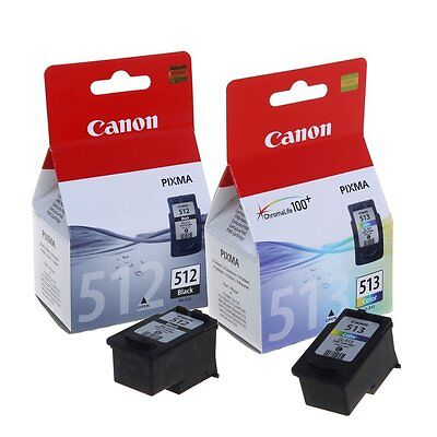 Used Empty Canon 512 Black & 513 Color Ink Cartridges Ready For Refilling