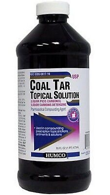 Humco Coal Tar Solution 20% for Compounding 16oz