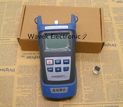 New FTTH Fiber Optic Optical Power Meter Cable Tester -70~+3dBm FC/SC Connector