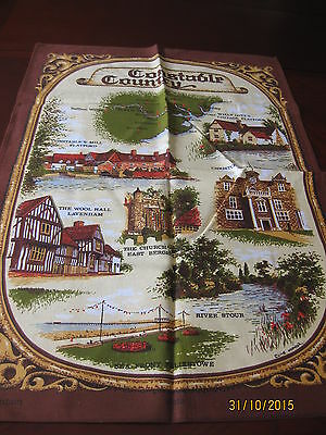 Vintage  All Cotton Tea Towel Made In Britain Constable Country