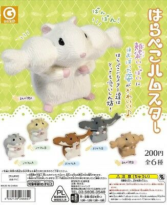 Shine-G Capsule Animal Hungry Hamster Harapekoham Completed Set 6pcs