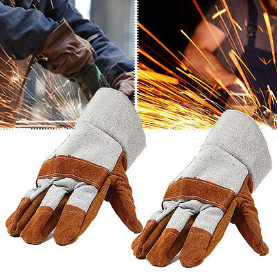 1 Pair New Pro Safe Welding Work Soft Cowhide Leather Gloves For Protecting Hand