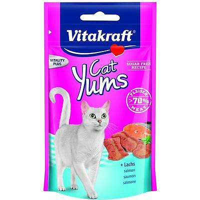 Vitakraft 8 x 48g Chat Yums Saumon & Omega 3 20% gratuit Gâteries pour Snack