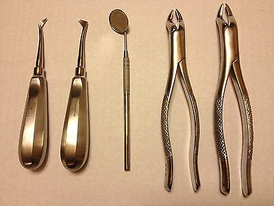 Aphrodite 5 Pcs Dental Tooth Extraction Set Emergency / Survival Dental Kit New
