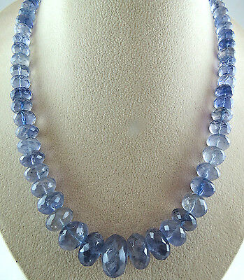 Ultimate Rare 425Cts Natural Iolite Facetted18Mm Big Round Beads Necklace