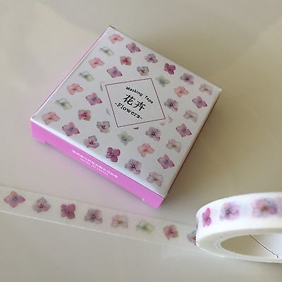 Washi Tape Thin Skinny Twilight Boxed Flowers Pink 8Mm X 8Mt Plan Craft