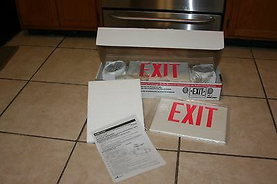 New in Box  Sure-Lites Exit/Emergency Lighting Polycarbonate Self-Powered Sign