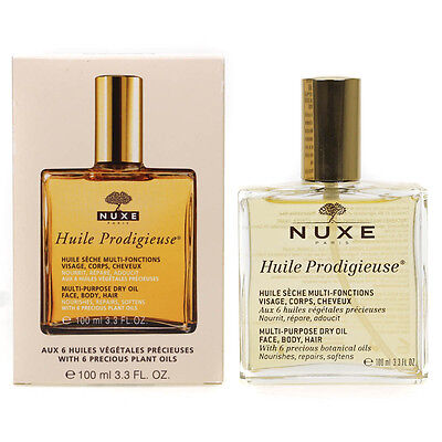 Nuxe Huile Prodigieuse Multi-Purpose Dry Oil for Face Body Hair 100ml - Boxed