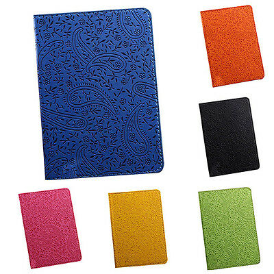 passport cover lavender leaf design faux leather many colours ID holder