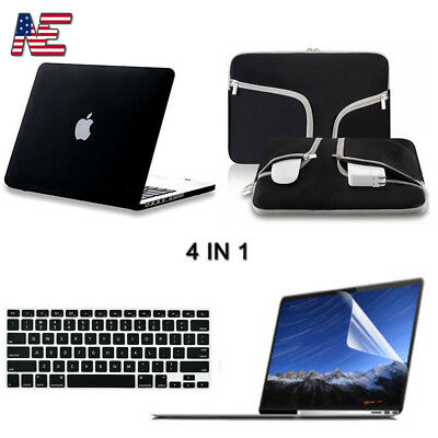 Sleeve Bag+Matte Hard Case+Keyboard Cover+LCD F Macbook Air Pro Retina 11 13 15""