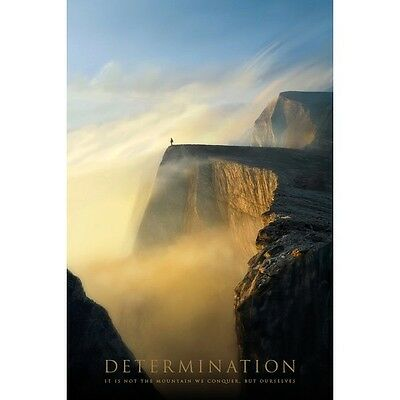 "DETERMINATION: WE CONQUER OURSELF NOT THE MOUNTAIN 91 x 61 MM 36 x 24"" POSTER x"