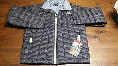 NWT Boys North Face Full Zip Thermoball Jacket, Graphite Grey, Size L (14/16)