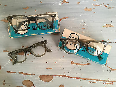 Vintage Cesco Safety glasses, 3 pairs