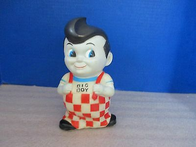 Vintage 1970's~BOB'S BIG BOY Rubber / Vinyl COIN BANK~Complete with Stopper