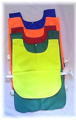 SET OF 10 SPORTS TRAINING BIBS - side fastening - Kids & Adult sizes available