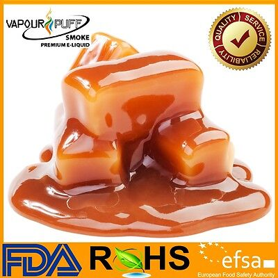 VAPOUR PUFF Toffee Caramel Flavour E Liquid 10ml Refil Juice Oil E-Cig Vapour UK