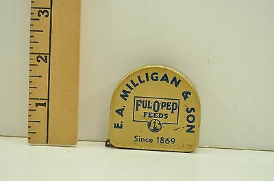 Vintage Ful O Pep Feeds Tape Measure E. A. Milligan And Son