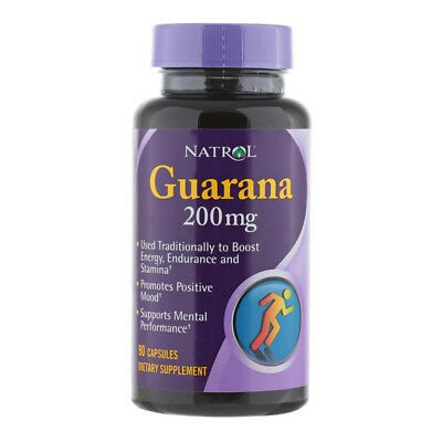 Guarana 200mg 90 caps - Natrol - Quemagrasa, Termogenico