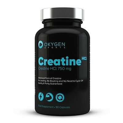 Creatina HCl 90 cápsulas - Okygen Sports - Creatine - high bioavailability