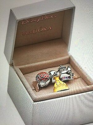 Pandora Disney Beauty And The Beast Live Action Limited Edistion Charm Set.