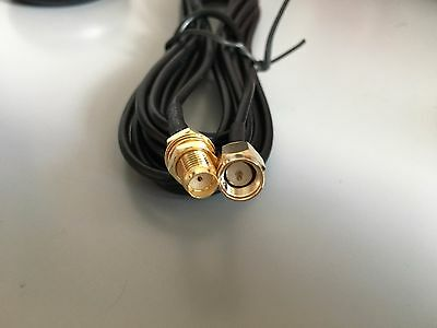 2M SMA Male to Female Coaxial Extension Cable Antenna Aerial WiFi Router UK Sell
