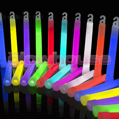 50 x Glow Sticks 6 Inch Premium Glowhouse Brand