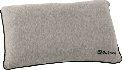 Outwell Memory Foam Fabric Comfort Pillow Cushion for Camping Travel | Grey