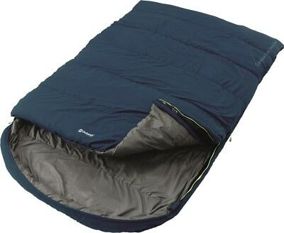 Outwell Campion Lux Double Rectangular Sleeping Bag 3 Season Camping | Blue